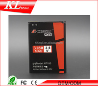3180mAh 3.7V Li-ion Replacement N7100 mobile phone Battery for samsung