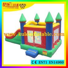 China Kule toys inflatable bouncy castle inflatable bouncing kids party magic castle combo with slide