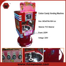 New Design 8 Inch LCD Video 220V PVC Coin Operated Automatic Cotton Candy Game Machine