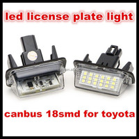 auto car led license plate light lamp bulb number plate light error free 18 3528 smd for toyota