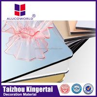 Alucoworld fireproof aluminum composite sheet brick panels polypropylen honeycomb sandwich panel