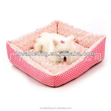 New pet products dog beds high quality Cozy sofa dog house dot flower square beds
