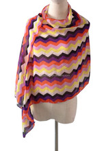 Fashion colorful wholesal scarf suppliers in chevron pattern new trend in the coming season