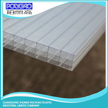 2015 hot selling pc four wall hollow sheet,roof covering plastic