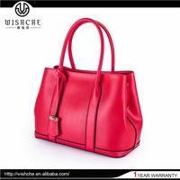 Wishche Elegant Top Quality Design Genuine Leather Satchel Bags Female Designer Handbag Distributor China Leather Factory W085