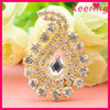water drop shape decorative sew on bling applique WRP-087