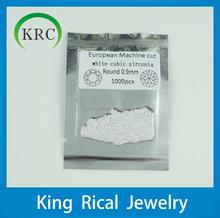 Round brilliant cut round 0.9mm to 2.0mm White cubic zirconia synthetic gemstone,cz gems