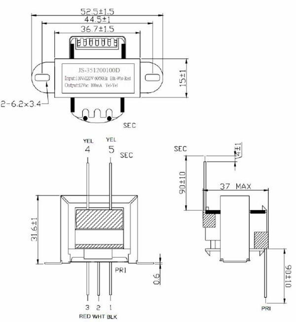 wholesale linear power transformer ei35 transformer 220v