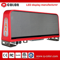 Q Color hot sale P5 3G wireless control taxi top led display for car roof advertising