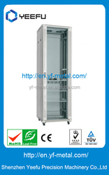 Tempered glass front door waterproof network cabinet