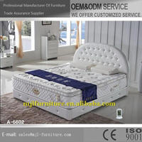 Durable hotsell white double size half pu soft bed