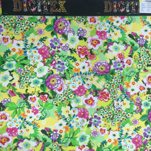 latest design floral printed watercolor digital printed dress fabric