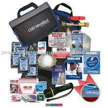1 person 2 day survival kit. Includes a variety of personal and emergency related items. Comes with your logo.