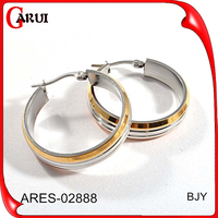 Factory sale directly daily wear earrings simple design ring type earrings