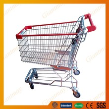 good looking easy go 180 litre zinc shopping cart with 4' castor