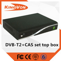 dvb-t2 set top box terbail in cena with CAS working for digital tv MPEG4 HD format