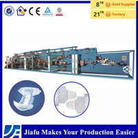 JF-NK-400 half servo disposable baby pamper diaper making machine diapers production line