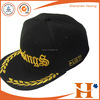 100%cotton 6 panel custom embroidered snapback hats wholesale