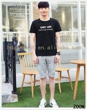 2016 Top Quality Custom Men T shirt / Black Fashion Tshirt