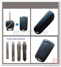 Flip Remote Key Shell 3 buttons & 4 types blade optional for Opel (AS028001)