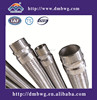 Stainless steel braided corrugated metal flexible hose by thread nut fitting ends
