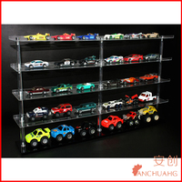 Clear Acrylic 5-tier Wall Mount Table Model Car/Toy Display Rack
