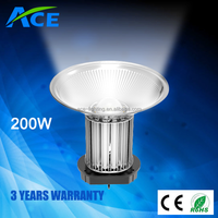 Aluminium Lamp Body Material and CE,RoHS Certification 200w led high bay light