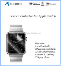 2015 Anti-Bubble and Anti-Fingerprint Clear Screen Protector for Apple Watch