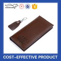 Hot wholesale long pattern vintage genuine leather men wallet