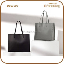2015 Hot Sale Two Sizes High Capacity Genuine Cow Leather Simple Fashion Design Commercial Office Ladies Shoulder Bag Handbag