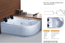 Factory Chinese sex girl massage bathtub,out door used new product of half round hot tub wls-822
