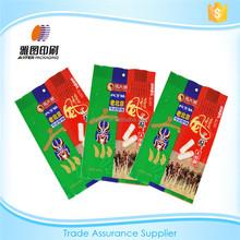 Printing plastic packaging material food