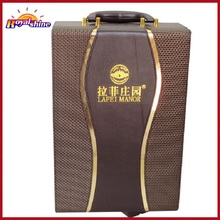Made in China 2 Bottle Faux Leather Wine Carrier