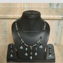Men&Women Traditional pattern, Beaded Necklace Set,100% Beaded Earring Set