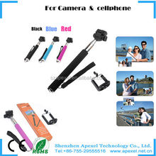 2014 new product made in china Popular universal Monopod For camera and cell Phone with universal holder three size