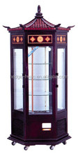 Top quality bakery showcase pastry equipment upright glass display cake showcase freezer with wooden design