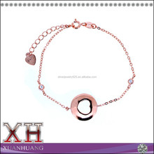 Lowest Price Sterling Silver Heart in Circle Bracelet Made in China