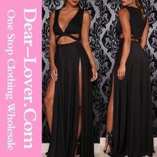 produttori di abbigliamento nuova moda nero jersey formale abiti per donne incinte