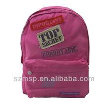 funny patch top secret school bag/girls backpack, satchel for kids