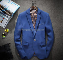 Newest single button mens blazers customized for man slim fit new arrival blazers in 2015