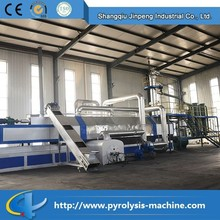 Made in china fully automatic continuous pyrolysis scrap tyre to fuel oil plant