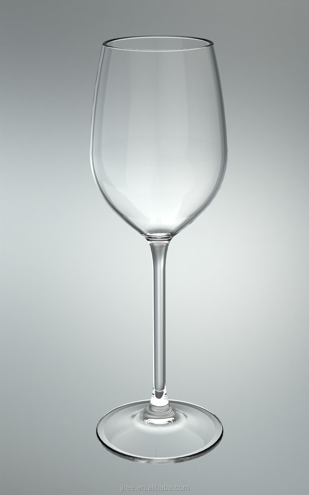 Wholesale transparent plastic wine glass with thin stem Large wine glasses cheap