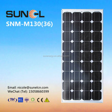 mono silicon 130w 12v solar panel price per watt