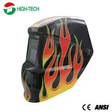 CE/ANSI Solar Auto Dark Welding Helmet With Fire Welding Helmet Decals