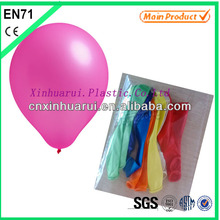 Pearlized latex balloons for decoration