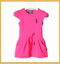Hot sale frock design girls dresses cotton girls pink frocks designs
