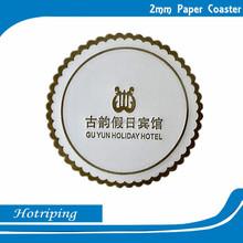 Custom own brand logo printing cup mat