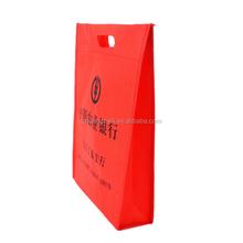 customized logo silk screen printing ultrasonic die cut non woven shopping bags