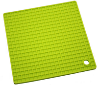 square creative household supplies silicone dinner table mat pad coasters cup mat placemat pot holder