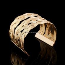 The New Alloy Wire Hemp Flowers Woven Bracelet Openings
